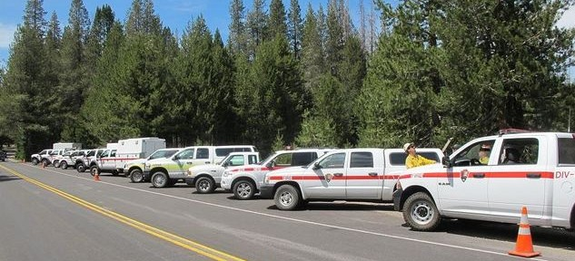Reading Fire staging area