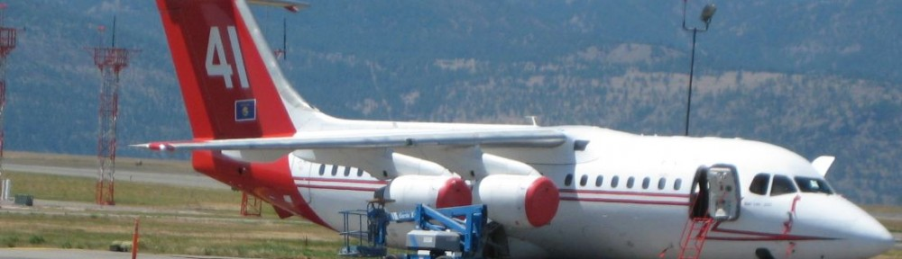 Photos of Tanker 41 and smokejumpers at Missoula.