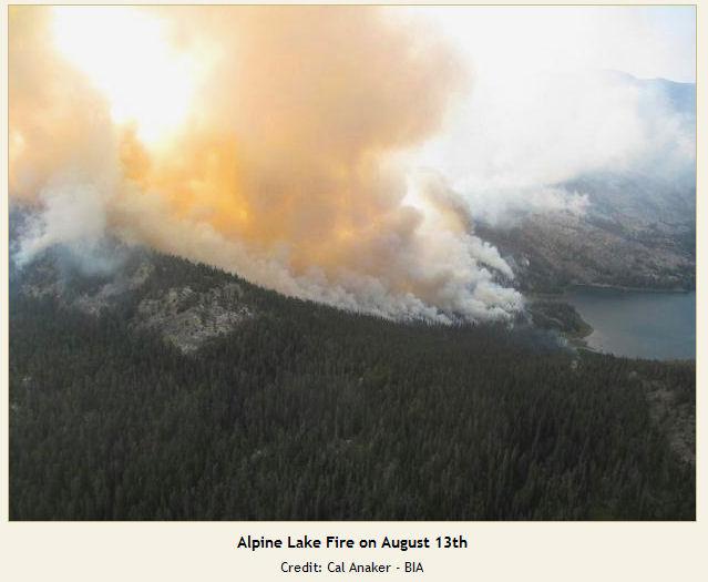 Alpine Lake Fire