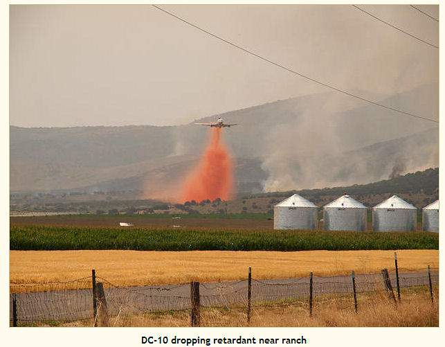 DC-10 drops on Idaho fire