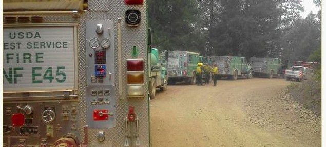 North Pass Fire smokes up Mendocino County
