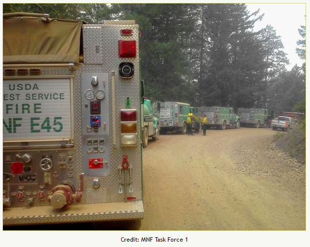 Engines on the North Pass Fire
