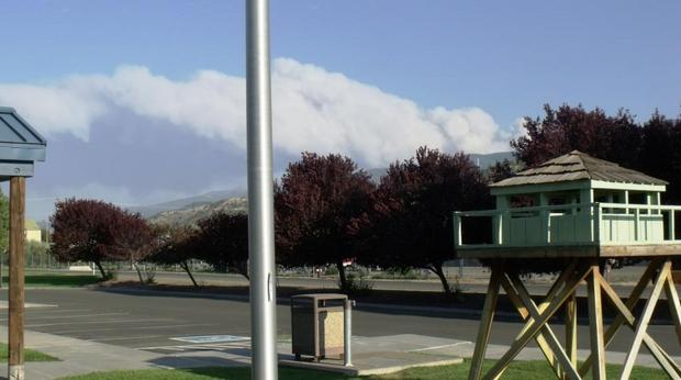 View from USFS Supervisor's Office in John Day - Parish Cabin Fire