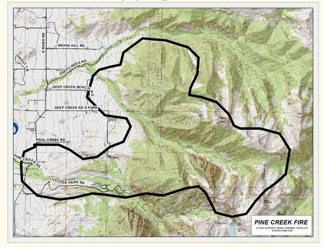 Pine Creek Fire Map