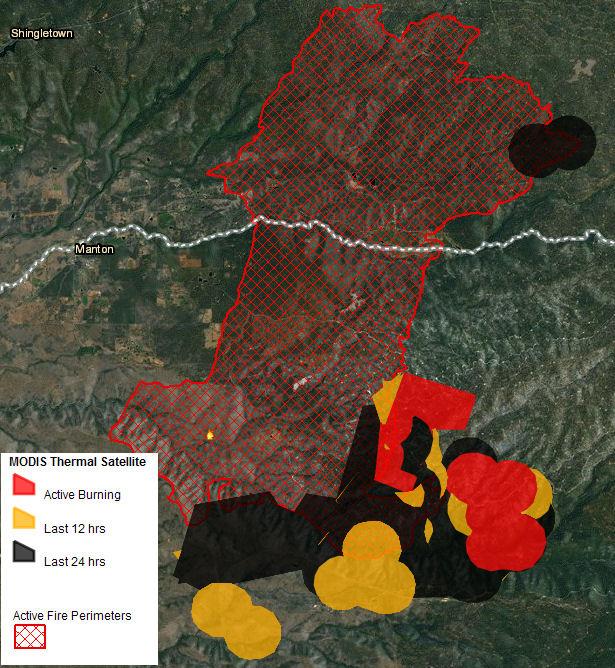 ponderosa fire map