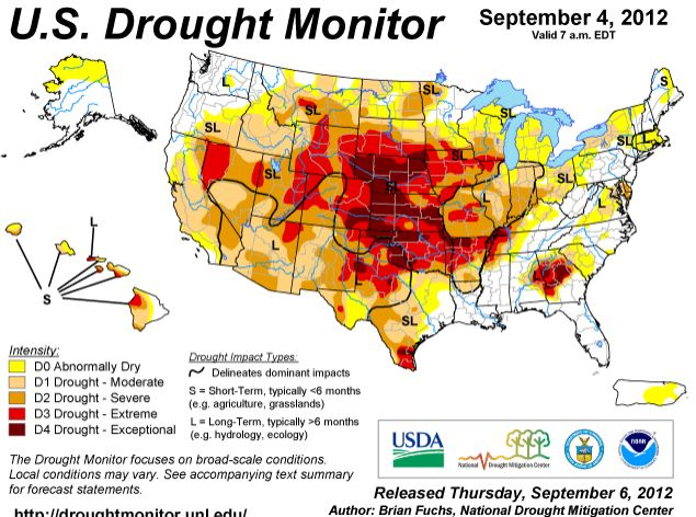 Drought Monitor, September 4, 2012