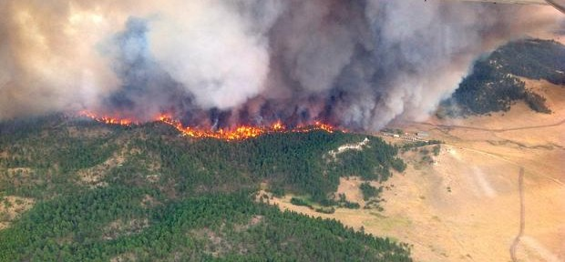 Time lapse video of Dugan Fire in Montana