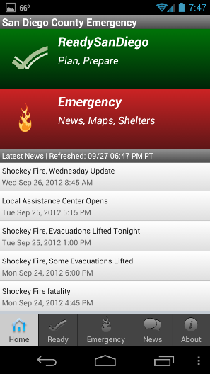 San Diego County app, emergency news