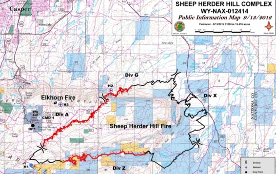 Map Sheep Herder Hill Fire 09-13-12