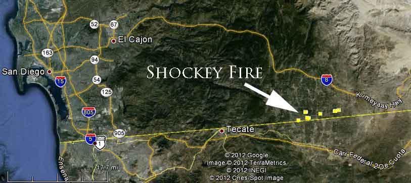 Map, Shockey Fire - September 25, 2012
