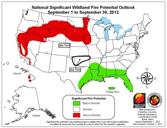 Wildfire Outlook, September, 2012