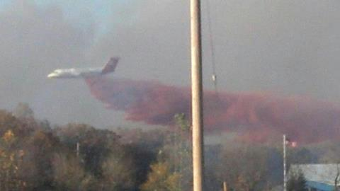 BAe-146 on the County 27 fire