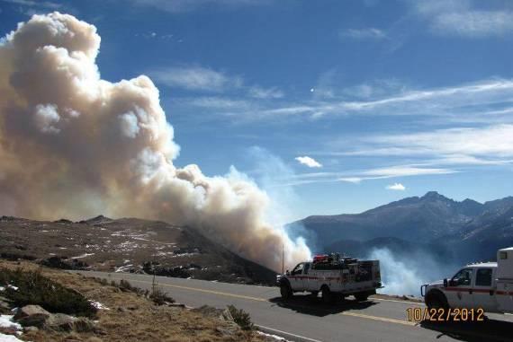 Fern Lake Fire, October 22, 2012