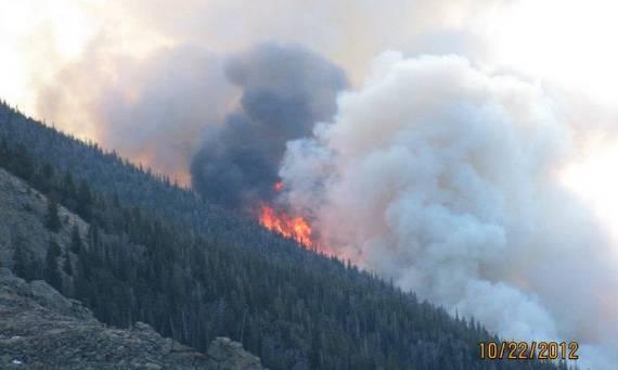 Fern Lake Fire - October 22, 2012
