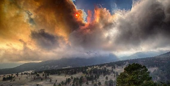 Fern Lake Fire, October 9, 2012, 2012. Photo by VIP Hahn