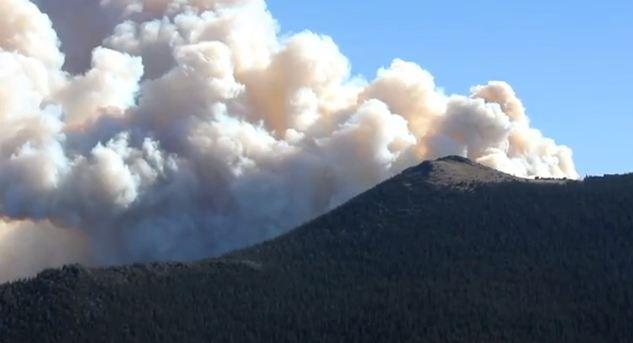Fern Lake Fire, October 9, 2012