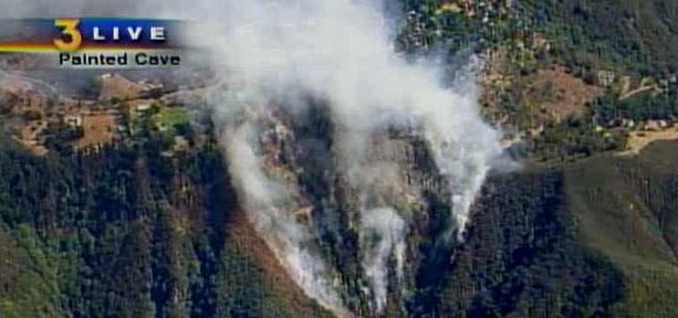 Firefighters hammer new fire north of Santa Barbara
