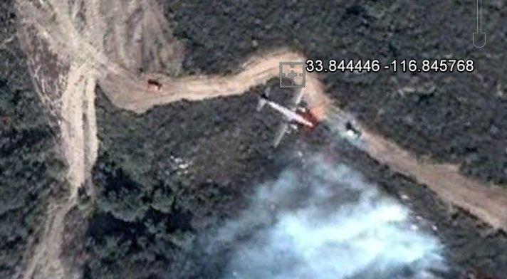 P2V on Esperanza fire, Google Earth