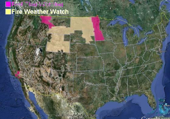 Red Flag Warnings, October 1, 2012