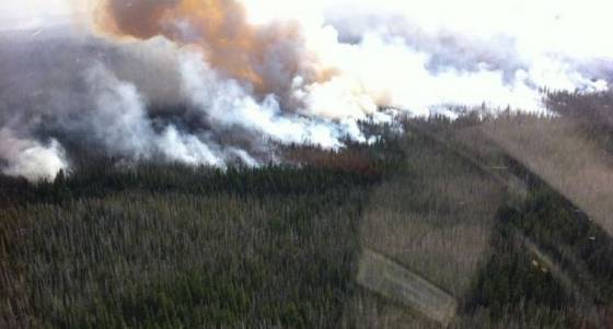 Water bucket extraction, Pole Creek fire