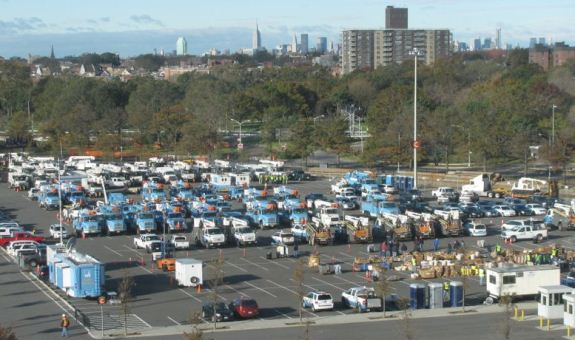 Logistical Staging Area in New York