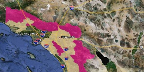 Red Flag Warning for southern California Sunday night and Monday
