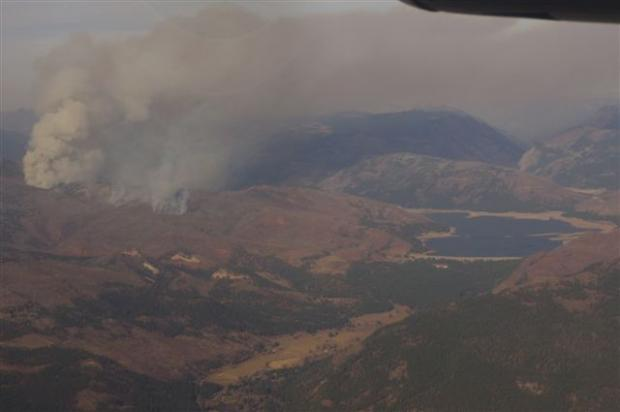 Vallecito Fire and Vallecito Reservior, photo by Charlie Armiger