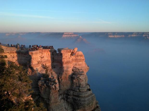 Smoke form Thompson prescribed fire, Grand Canyon