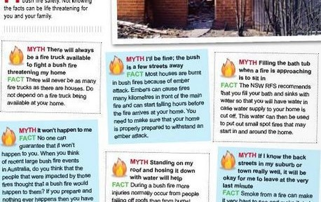 Myths about bush fires