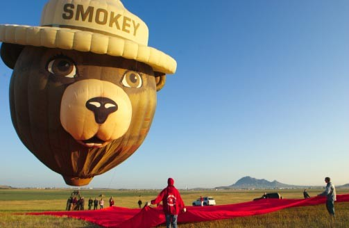 Smokey Bear balloon at Sturgis motorcycle rally