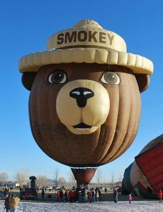 Smokey Bear hot air balloon