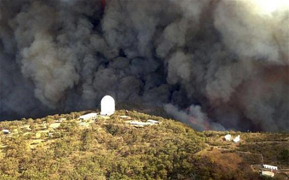 Wambelong Fire, Siding Springs Observatory