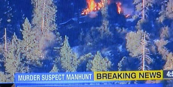 Cop killer suspected to be in burning structure in San Bernardino NF
