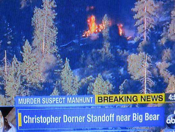 Christopher Dorner, possibly in structure fire