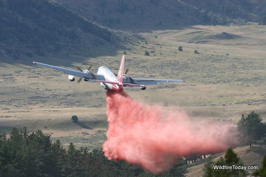 P2V air tanker on Whoopup fire, July 18, 2011