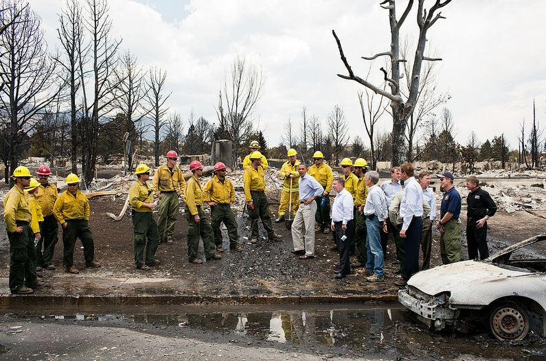 President Obama at Waldo Canyon Fire