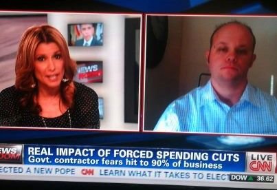 Fire contractor interviewed on CNN about sequestration