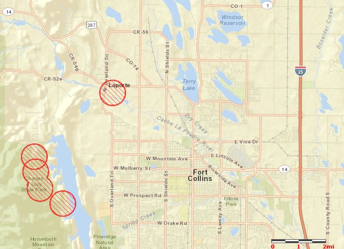 Map of Galena Fire, 335 pm MT March 15, 2012