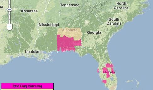 Red Flag Warnings, March 27, 2013