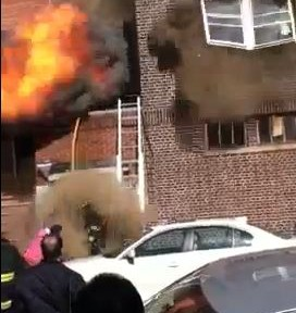 Video of smoke explosion at structure fire in New Jersey