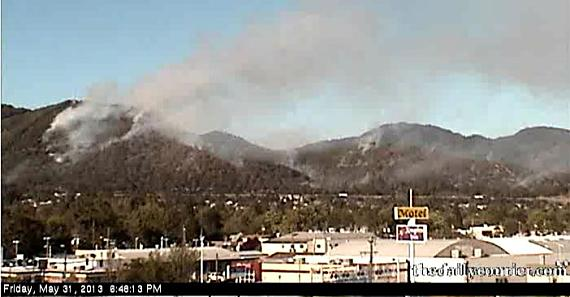 Fire near Grants Pass, Oregon
