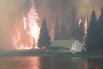 Cabin wrapped, Big Fish Fire