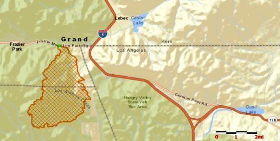 Map of Grand Fire