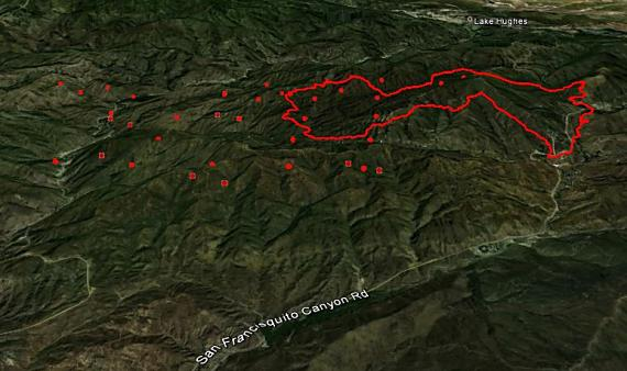 Map of Powerhouse Fire