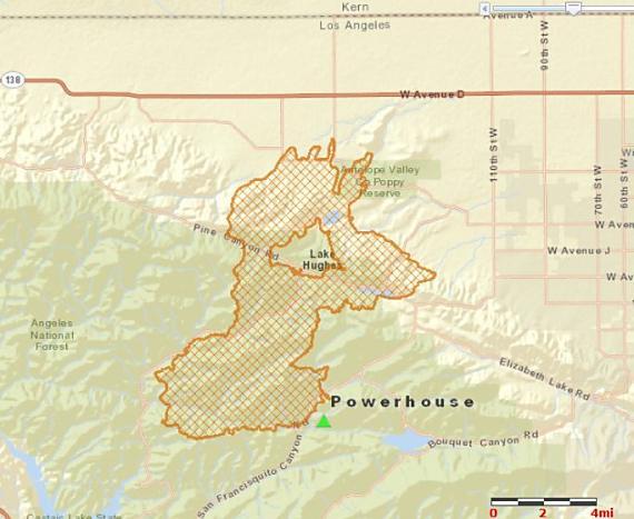 Map of Powerhouse Fire, June 3, 2013