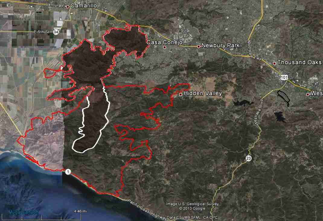 Map of Springs Fire