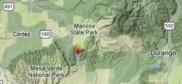Map of Weber Fire