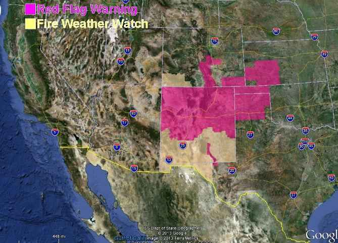 Red Flag Warnings 5-27-2013