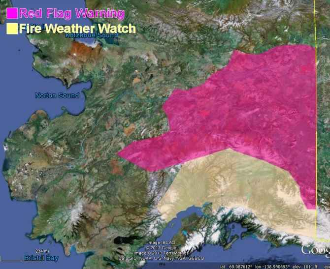 Red Flag Warnings Alaska 5-27-2013