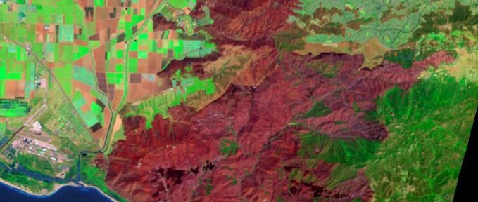 New Landsat satellite photographs Springs fire